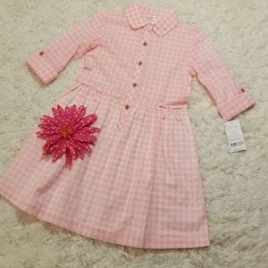 Carter's Pink & White Plaid Dress NWT Size 4